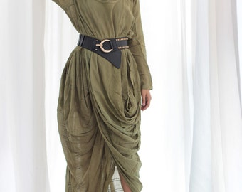Serendipity....Long dress (fit M-L) Boho ,funky ,simple, classic dress