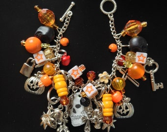 Halloween Bracelet with skulls