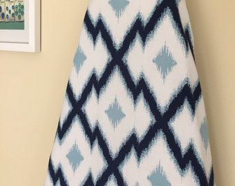 Ironing Board Cover - Aztec Ikat in Blue