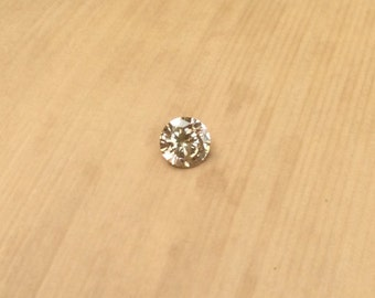 Champagne Diamond Loose - Round cut Champagne Colored Fancy Brown Diamond for Your Engagement Ring - LSG399