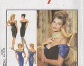 Style 1985 Misses Lined COCKTAIL Evening DRESS Pattern Curved Hemline Womens Sewing Pattern Size 6 8 10 12 14 16 Bust 30 - 38 UNCUT