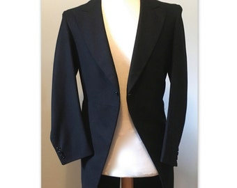 Vintage 50s Morning Coat Jacket XS S