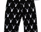 Deer Baby Clothes - Woodland - Black and White Pants - Deer Antler - Baby Pants - Baby Boy Pants - Baby Girl Pants - Nb - 3m - 6m - 12m- 18m