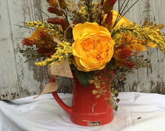 Fall Table Centerpiece, Fall Table Decorations, Thanksgiving Centerpieces, Fall Home Decor, Fall Harvest Arrangement