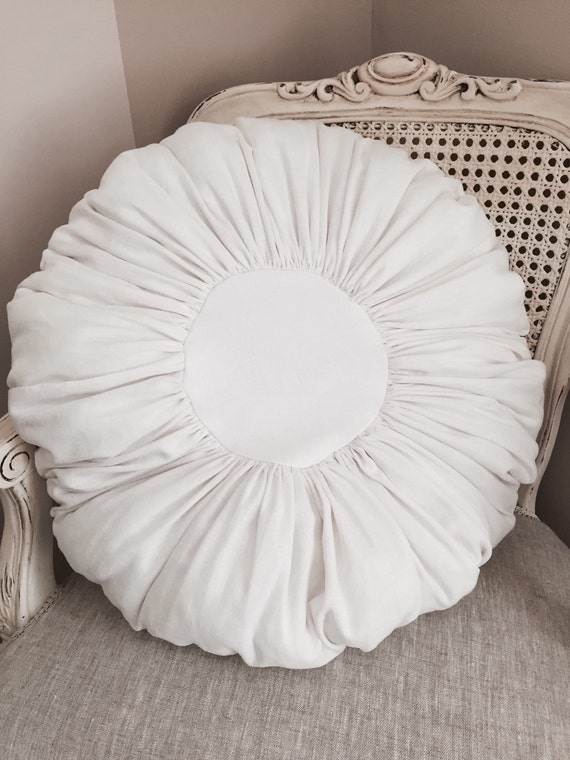 Linen White French Porch Pillow Shabby Chic Paris Decor