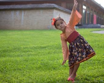 Little Girls Fall Dress - Toddler Fall Dress - Autumn Dress - Thanksgiving Dress - Woodland Dress - Boutique Birthday Dress - 2T to 7 years