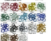 "14ga 5/16"" Shiny Anodized Aluminum Multi-Color Jump Ring Kits - Saw Cut - (2.0mm x 8.4mm)"
