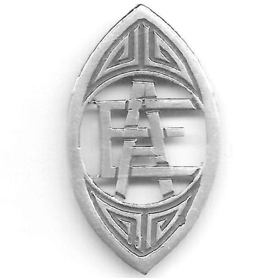 Vintage AE or EA - Art Deco - Handmade - FRENCH State's mark for the Solid Silver Cut out Letters - to be set on a Bangle, pendant, purse..