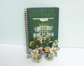 Repurposed Book Cover Journal, Castle Craneycrow, Published in 1902, Wire Spiral Binding, 50 Lined Pages