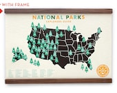 National Parks Map 11x17 digital print with stickers