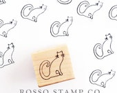 Cat Stamp - Halloween Stamp - Fall Stamp - Cat with Whiskers Stamp