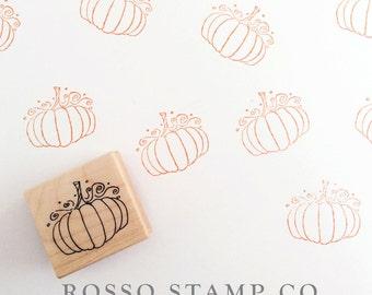 Pumpkin Stamp - Halloween Stamp - Thanksgiving Stamp - Autumn Wedding