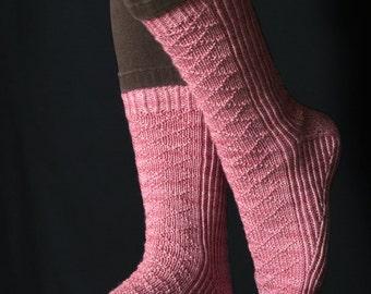 Celestial Diamond Sock Knitting Pattern - PDF