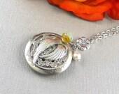 Angel,Locket,Silver Locket,Angel Wing,Wing Locket,Angel Wing Necklace,Angel Wing Locket,Silver Wing,Feather, Guardian