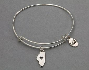 Illinois: Adjustable bangle bracelet. Sale