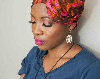 Vlisco fabric African head wraps for women