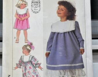 Simplicity 7979 - Gunne Sax By Jessica Designer Girls' Dress Pattern - Easter Dress, Party Dress, Church Dress