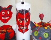 Day of the Dead Devil Diablito Prayer Candle- necessary altar supply