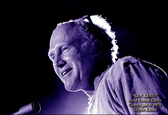 KEN KESEY SPEAKING, Clyde Keller Photo, Fine Art Print, tinted Black and White, featured on Huff Post, Book Cover,  Acid Christ