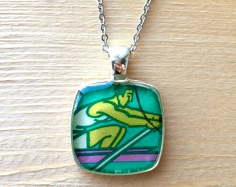 Rower's Pendant Necklace