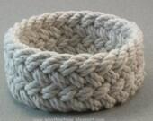 thick herringbone weave rope bracelet ecru cotton turks head knot sailor rope bracelet stretchable sailor bracelet 3706