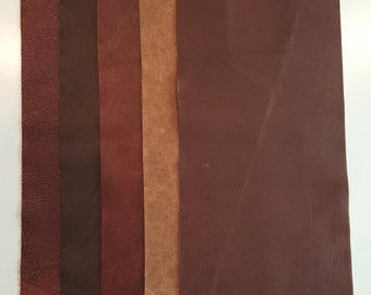 """9""""x23"""" Full Grain Leather pieces Mixed lot Rambo"""
