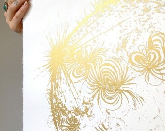 Sun Art Print, Space, Minimalist, Minimal, Modern art, Wall decor, Gold Print, Space Art, Gold Gift, Minimalist Art, Home Decor, boho decor