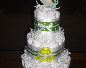 Pea Pod Diaper Cake Twins Diaper Cake other colors and sizes available
