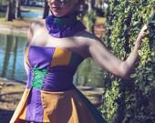 Halloween Costume, Mardi Gras Costume, Mardi Gras Skirt, Women's Costume, Cincher Skirt, Peplum Skirt, Fat Tuesday Costume