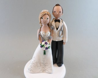Personalized Doctors Wedding Cake Topper