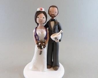 Wedding Cake Topper Custom Handmade Nurse& Pharmacist