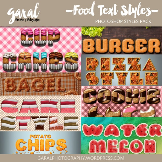 5delicious Text effects Set Free photoshop styles