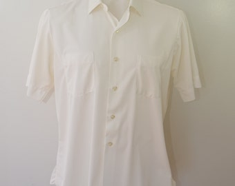 Vintage Penneys TOWNCRAFT short sleeve SUMMER shirt large or xl  1960's USA