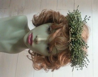 Tiara headband wreath crown head piece laurel Goddess Roman Greek Renaissance seeded greenery