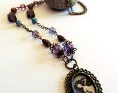 Sleeping Beauty - Original handmade necklace - brass jewelry