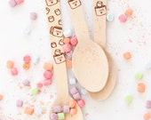 Cocoa Spoons - Hot Chocolate Stirrers - 10 Gift Spoons