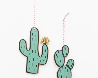 Cactus wall charms