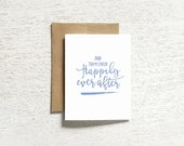 wedding card, engagement card, wedding note card, wedding shower card, and they lived happily ever after folded card