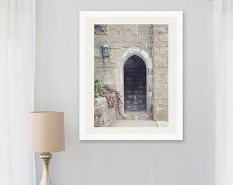 archway photograph, wellesley college archway aged worn stone steps nostalgic memorable captured moment New England bedroom large wall art