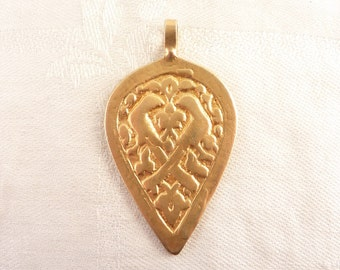 SALE ---- Vintage Gold-plated Sterling Ancient Pre-Columbian Replica Pendant By Circe Patti Birch