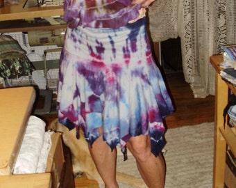 Tiedyed Hankerchief Skirt