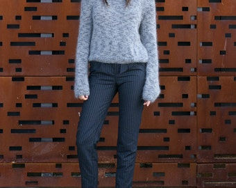Heather Sweater - luxurious kid mohair and wool blend oversized jumper