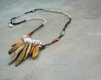 SOLD to Jenna   payment plan of 4    low tide flurry sculptural necklace