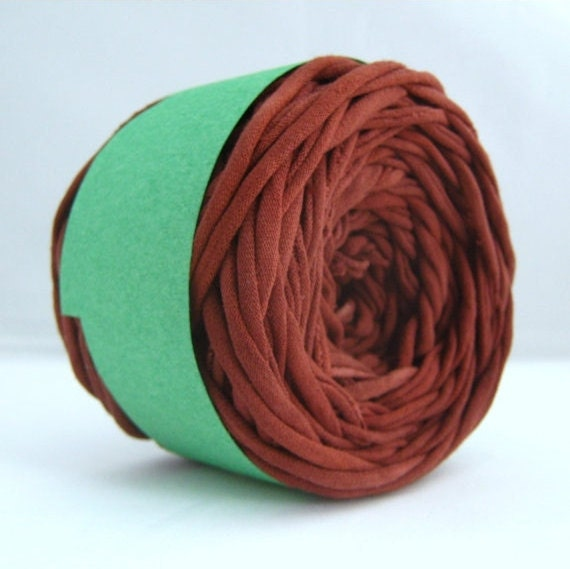 T Shirt Yarn Hand Dyed- Cocoa 60 Yards