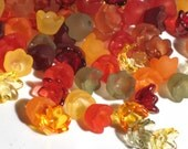 60 Mixed Acrylic Tulip Bell Flower Beads Fall Sparkle 10mm
