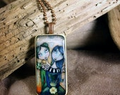 Friends for Always - Vintage Domino Necklace