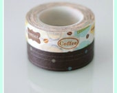 Washi Tape Set of 2 Fun Tape Coffee Lover. Party.Decoration.Scrapbook.Gifts