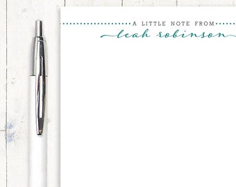 personalized notePAD - LITTLE NOTE FROM - stationery - stationary - choose color