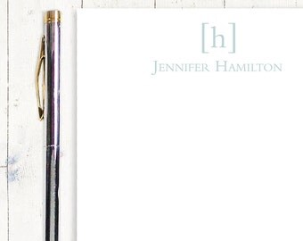 personalized notePAD - SIMPLY CLASSIC MONOGRAM - stationery - stationary - business letterhead