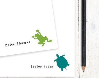 personalized notePAD - FROG or TURTLE - kids stationery - stationary
